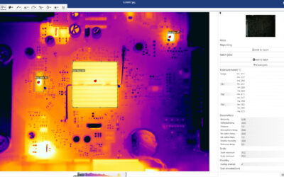 Thermal image analysis and reporting software