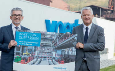 Voestalpine opens the world's most advanced continuous caster at the site in Donawitz