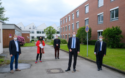 Lord Mayor Stephan Keller and Planning Officer Cornelia Zuschke visit the MPIE