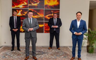 The German Innovation Commissioner for Green Hydrogen visits the Dillingen site
