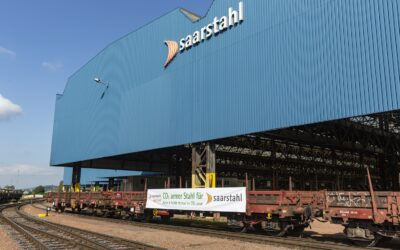 First low-carbon steel from Saarstahl Ascoval  arrives in Saarland